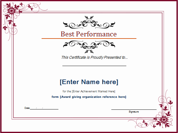 Dance Certificate Templates for Word Luxury asirix Infotech Pvt Ltd