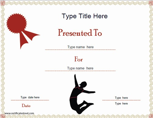 Dance Certificate Templates for Word New Certificate Street Free Award Certificate Templates No