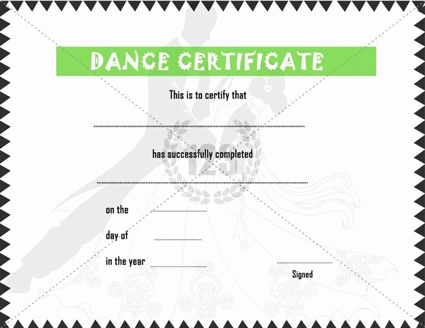Dance Certificate Templates for Word New Elegant Dance Certificate Template Free 123certificate
