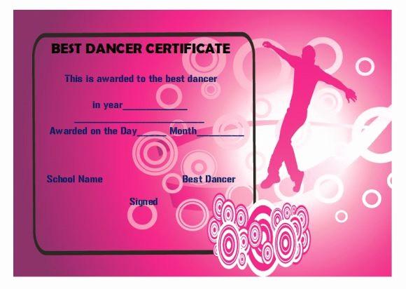 Dance Certificate Templates for Word Unique Dance Certificate Template 26 Free Certificates for