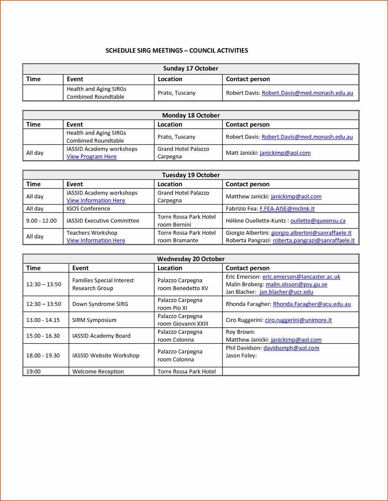 Day Of event Schedule Template Elegant 6 event Schedule Template Bookletemplate