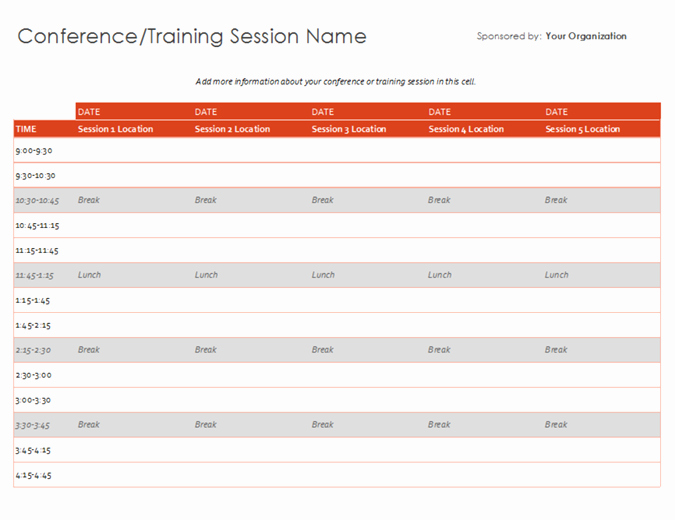 Day Of event Schedule Template Inspirational Schedules Fice