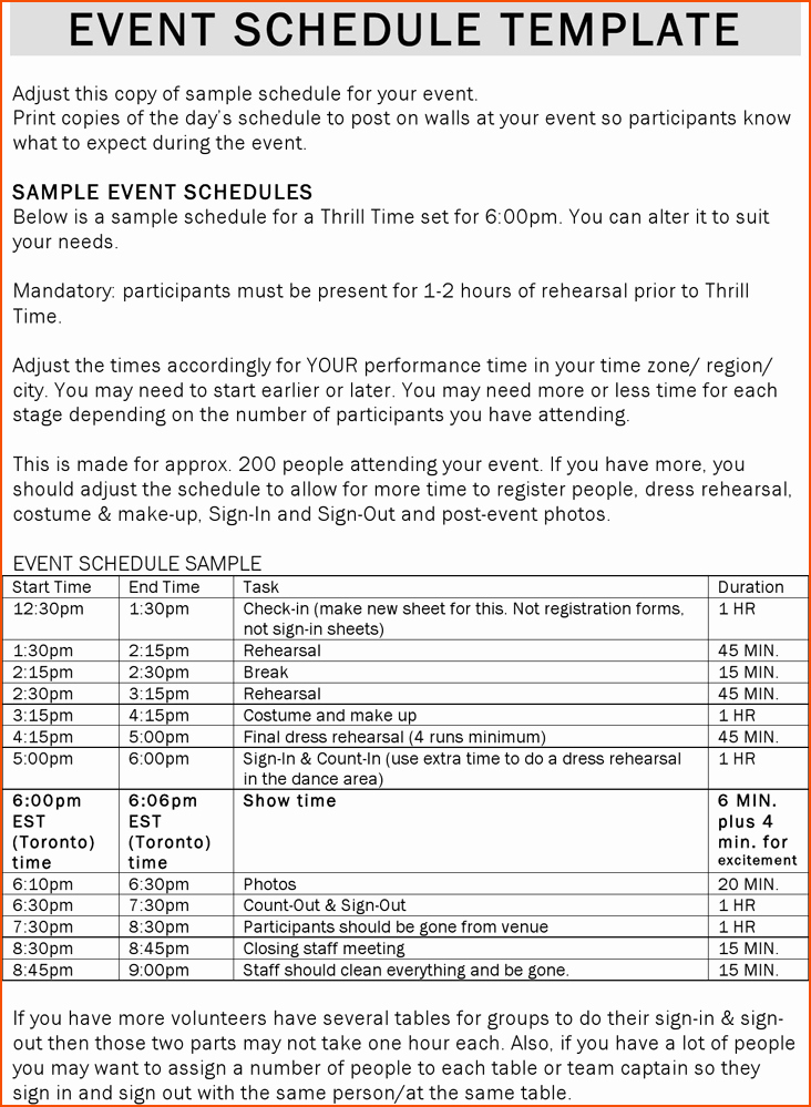 Day Of event Schedule Template New One Day event Schedule Template Seven Signs You Re In Love