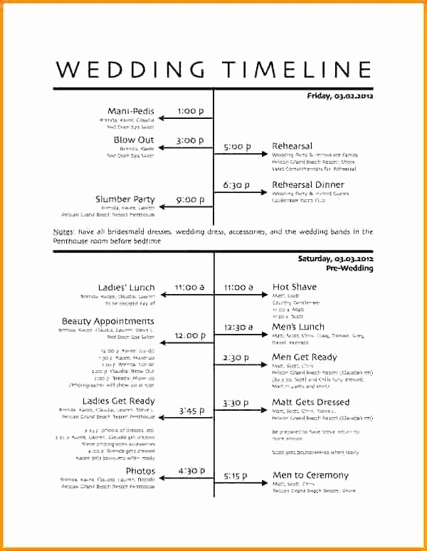 Day Of event Timeline Template Awesome Wedding Day Timeline Template Pdf Sample Schedule Free
