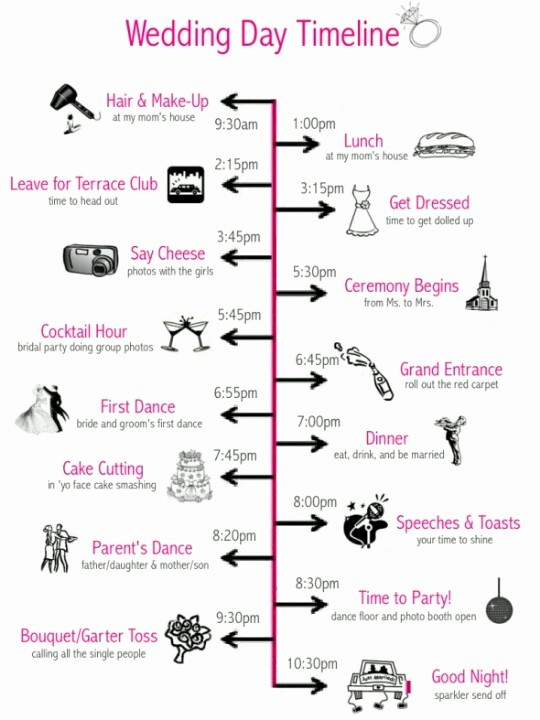 Day Of event Timeline Template Best Of Wedding Prep Julie Hanan Design