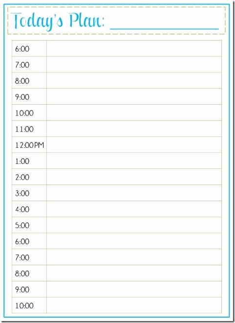 Day to Day Schedule Template Fresh Best 25 Daily Schedule Template Ideas On Pinterest