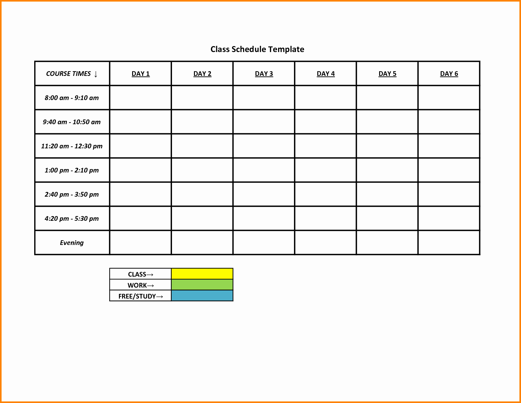Day to Day Schedule Template Lovely 5 Day Schedule Template Portablegasgrillweber
