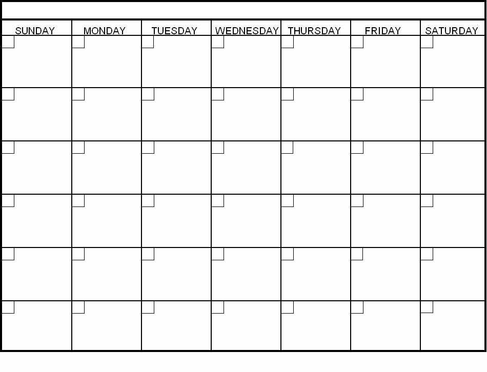 Day to Day Schedule Template Lovely Blank Calendar Template Fotolip