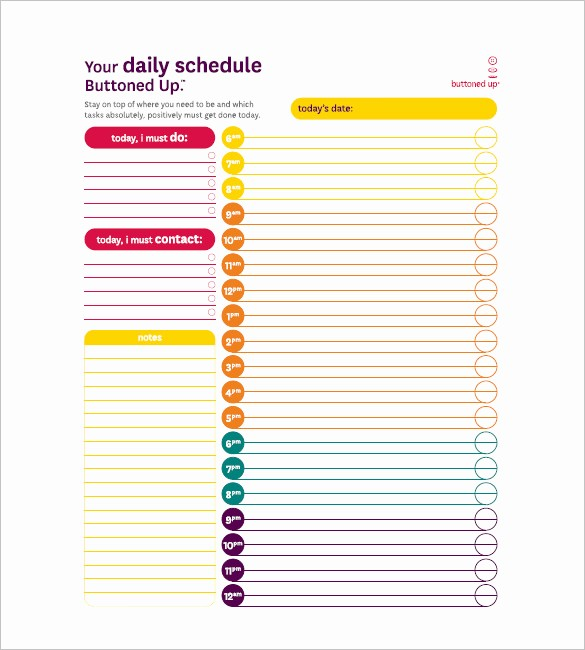 Day to Day Schedule Template New Daily Task List Templates 8 Free Sample Example