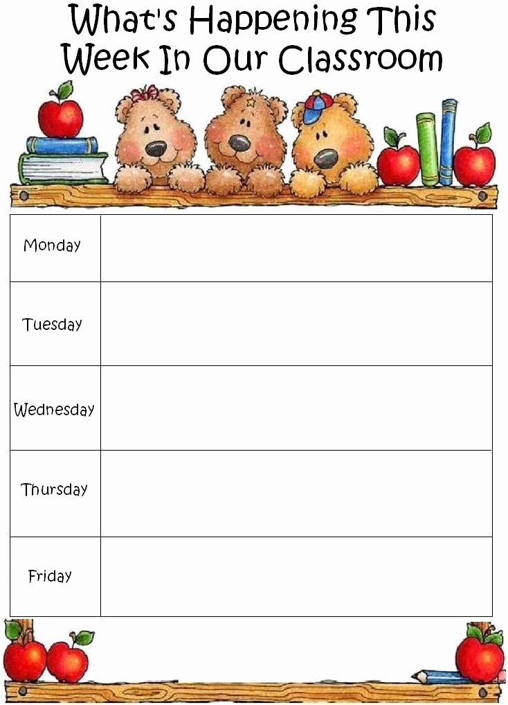 Daycare Menu Templates Free Download Awesome Blank Lesson Plan Sheets