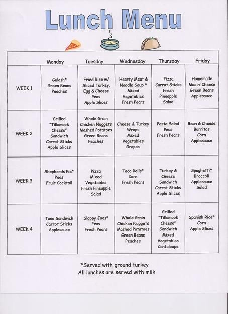 Daycare Menu Templates Free Download Beautiful Preschool Snack Menu Ideas