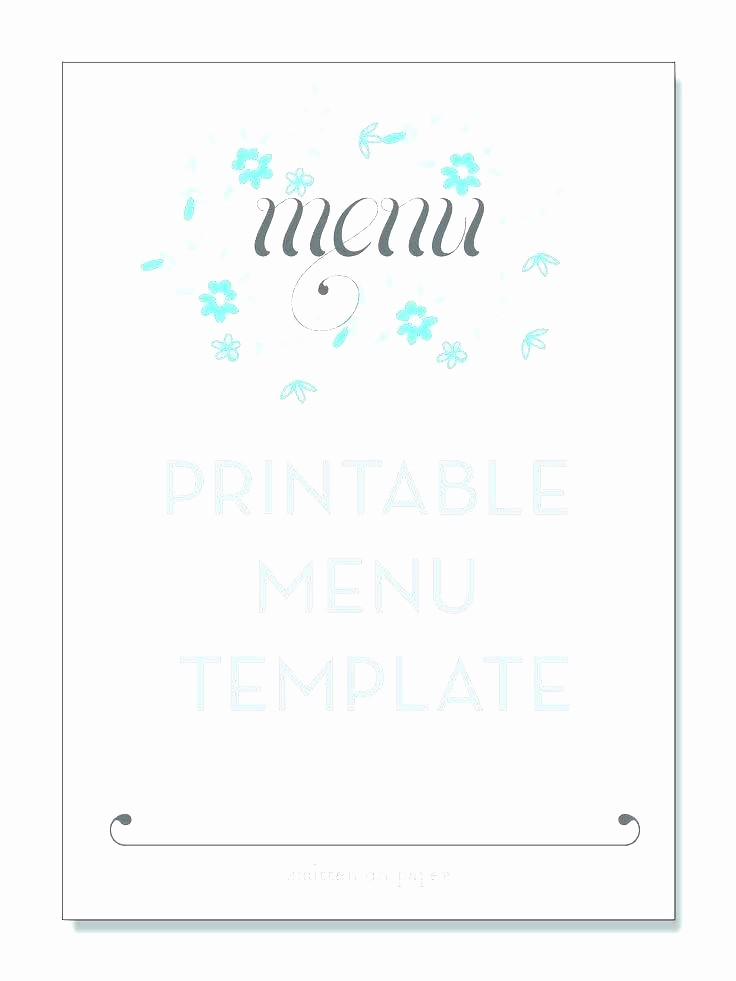 Daycare Menu Templates Free Download Best Of Dinner Menu Template Free Word Planner Blank Templates for