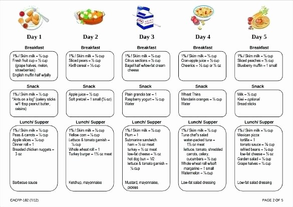 Daycare Menu Templates Free Download Best Of Free Printable Menu Templates – Peero Idea