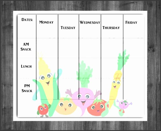 Daycare Menu Templates Free Download Luxury 10 Free Weekly Menu Templates for Word Sampletemplatess