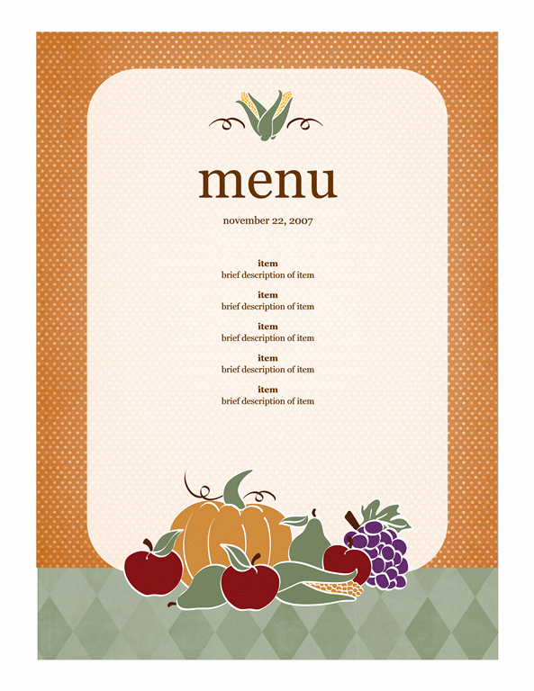 Daycare Menu Templates Free Download Luxury Menu Template Word