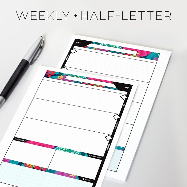 Days Of the Week Horizontal Awesome now Available at Sessavee On Etsy Weekly Planner