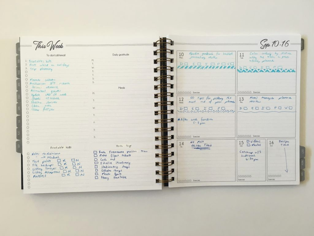 Days Of the Week Horizontal Awesome Ombre Weekly Spread In the Life Inspired Plans Planner