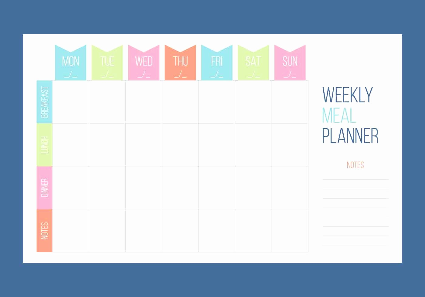 Days Of the Week Horizontal Inspirational Free Unique Weekly Calendar Vectors Download Free Vector