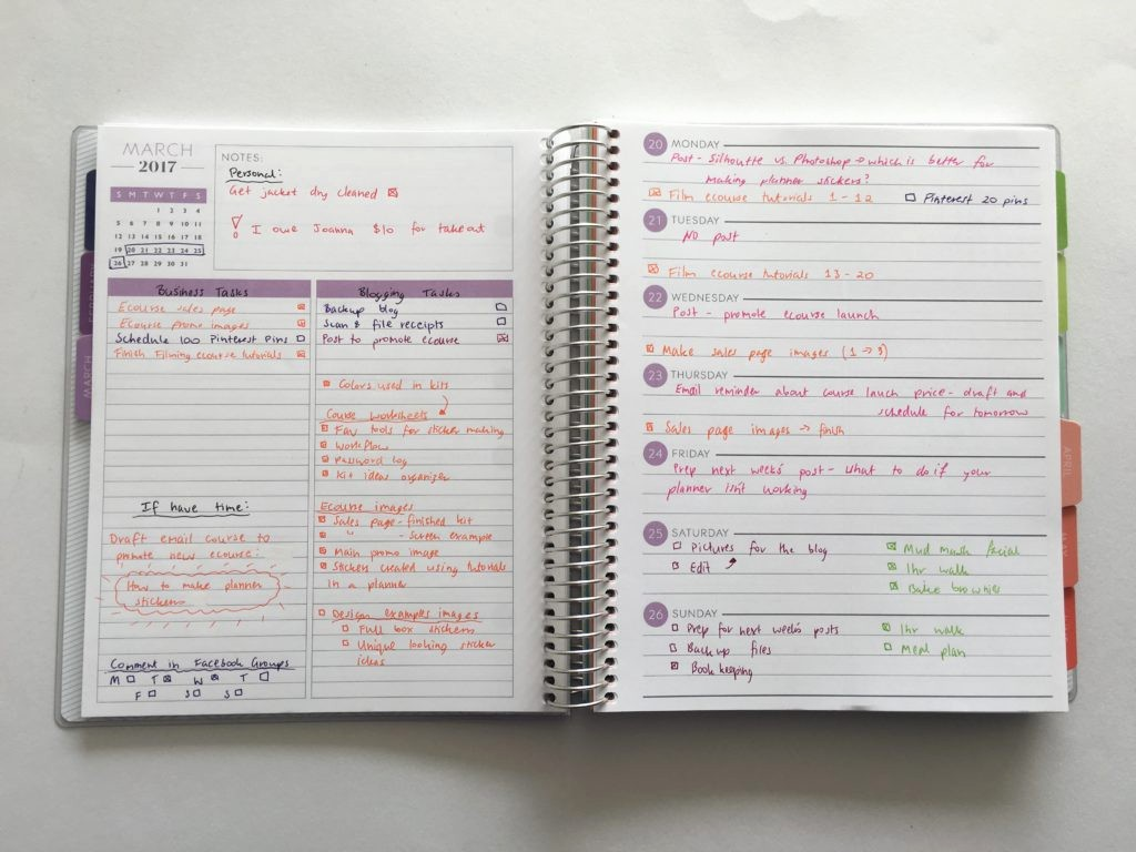 Days Of the Week Horizontal Lovely Planning Using the Plum Paper Horizontal Lined with Notes