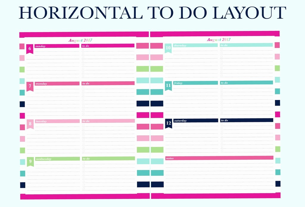 Days Of the Week Horizontal Luxury Finally A Planner that Matches Your Planning Needs