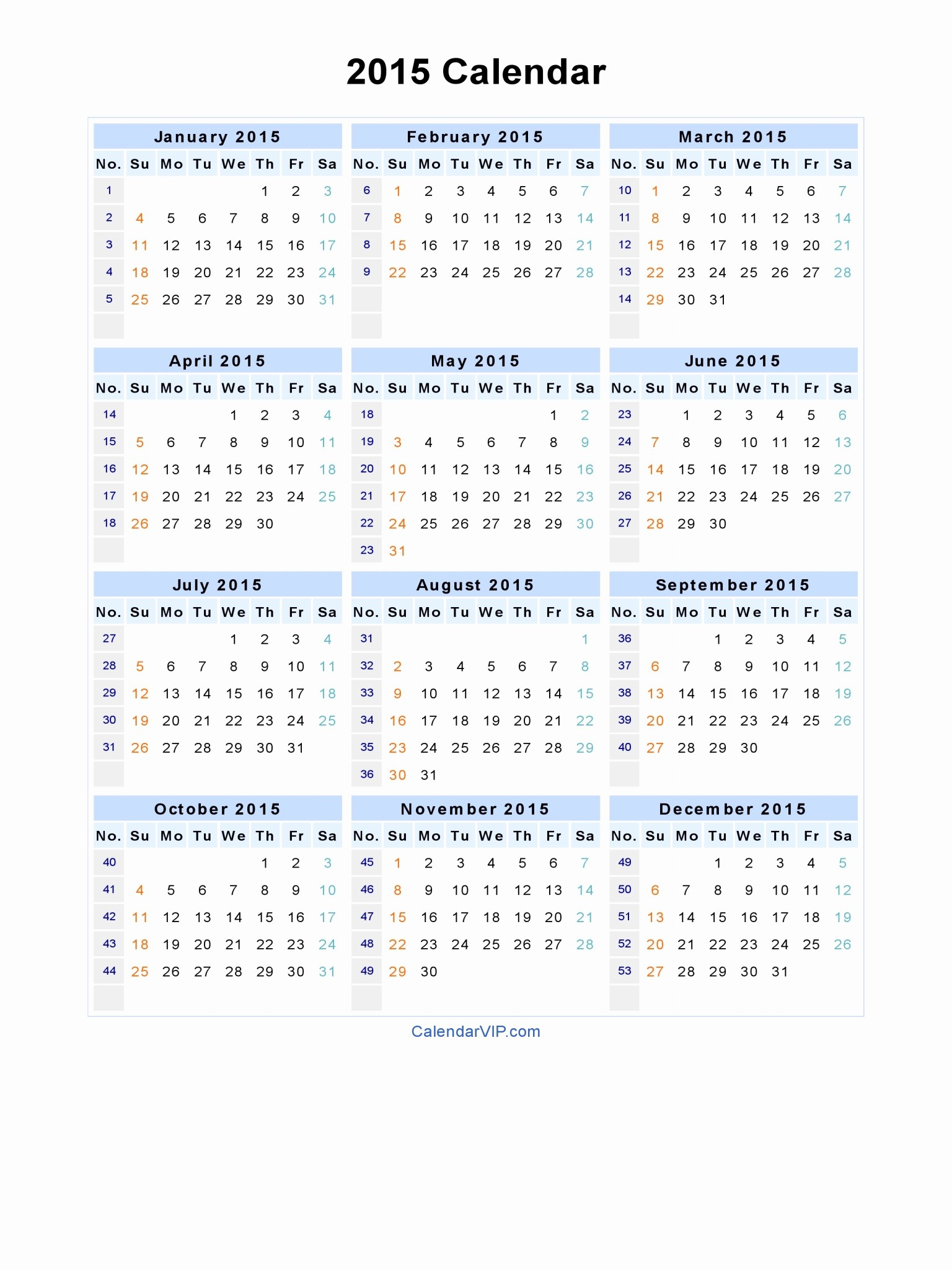 December 2015 Calendar Word Document Beautiful 2015 Calendar Blank Printable Calendar Template In Pdf