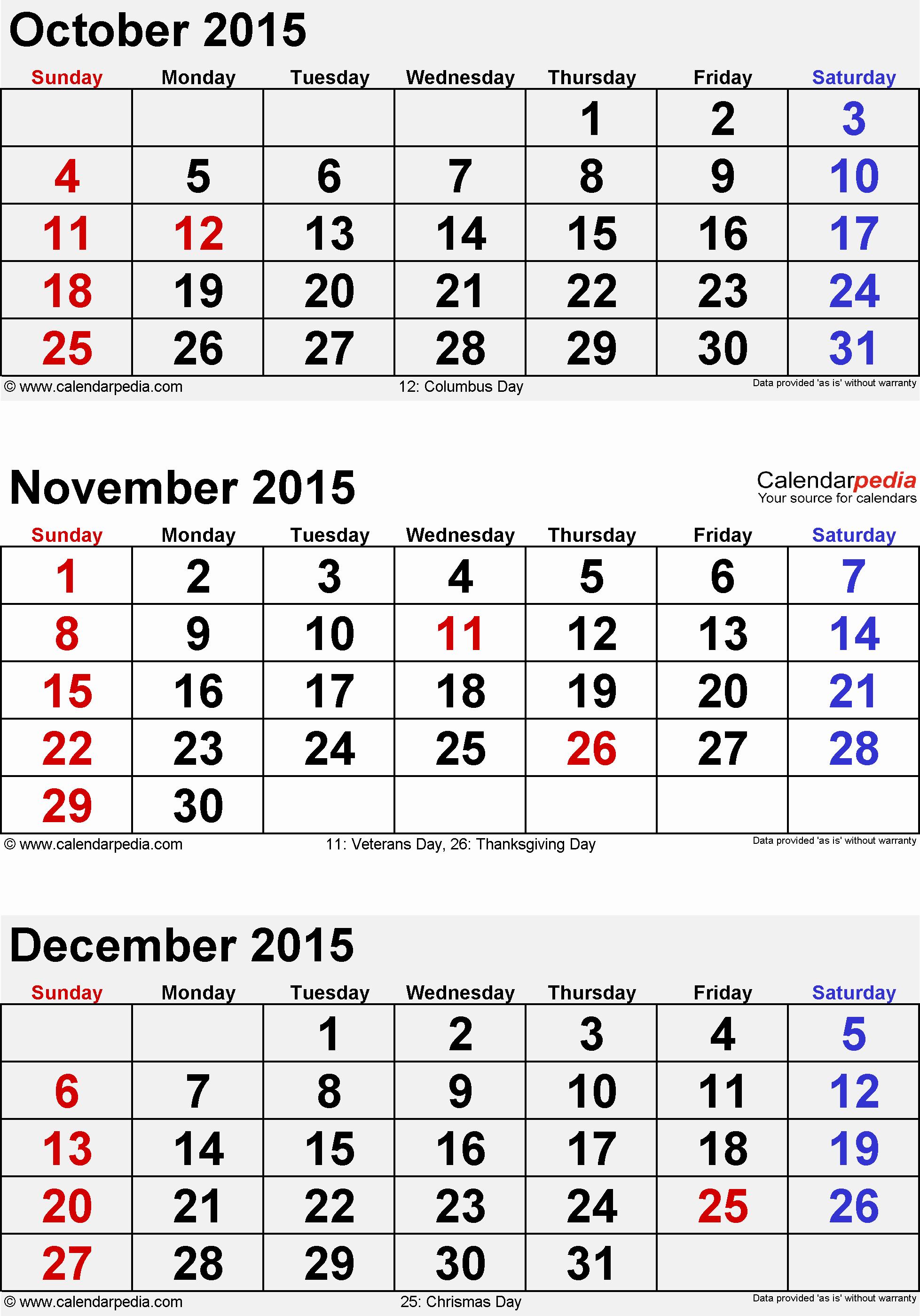 December 2015 Calendar Word Document Beautiful December 2015 Calendars for Word Excel & Pdf