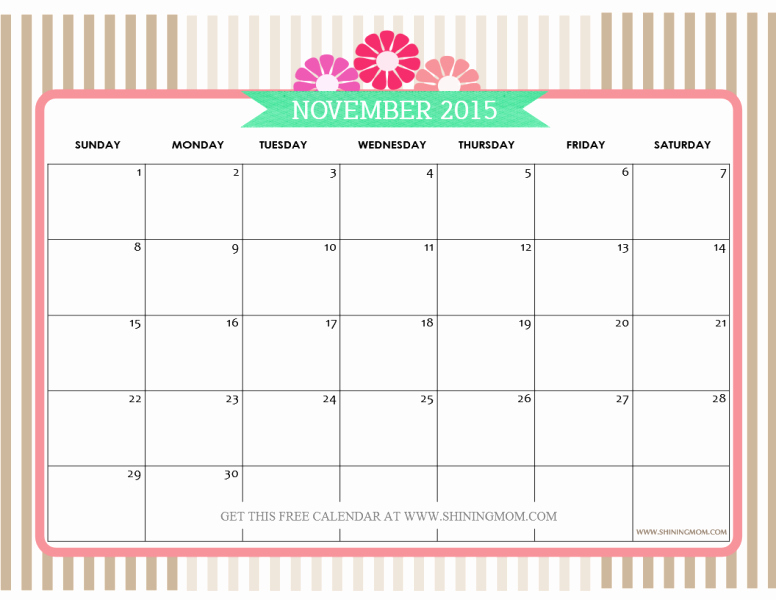 December 2015 Calendar Word Document Beautiful Feel Free to Download November 2015 Calendar Print and