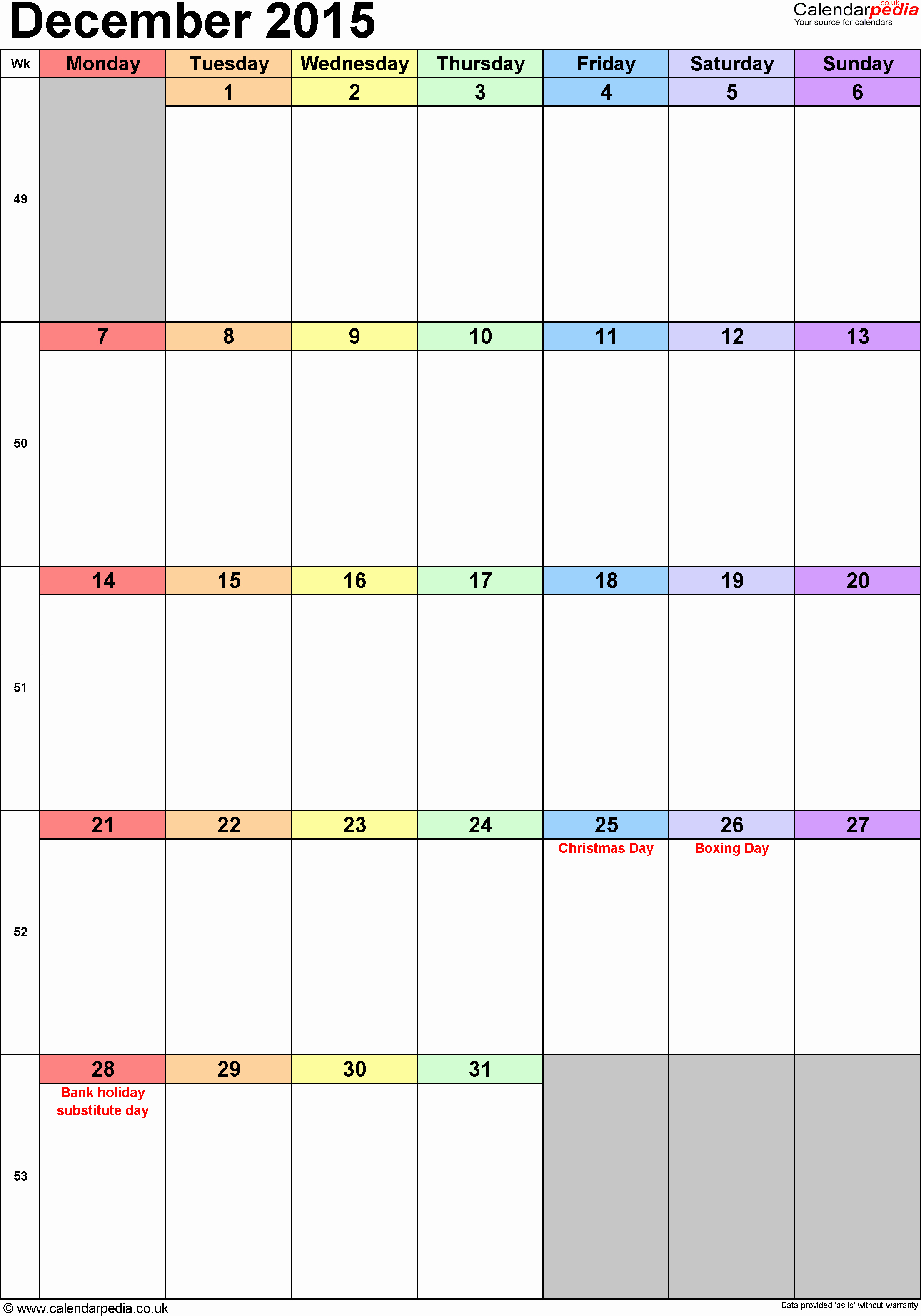 December 2015 Calendar Word Document Best Of Calendar December 2015 Uk Bank Holidays Excel Pdf Word