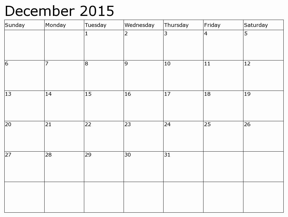 December 2015 Calendar Word Document Best Of December 2015 Calendar Pdf This Calendar Portal Provides