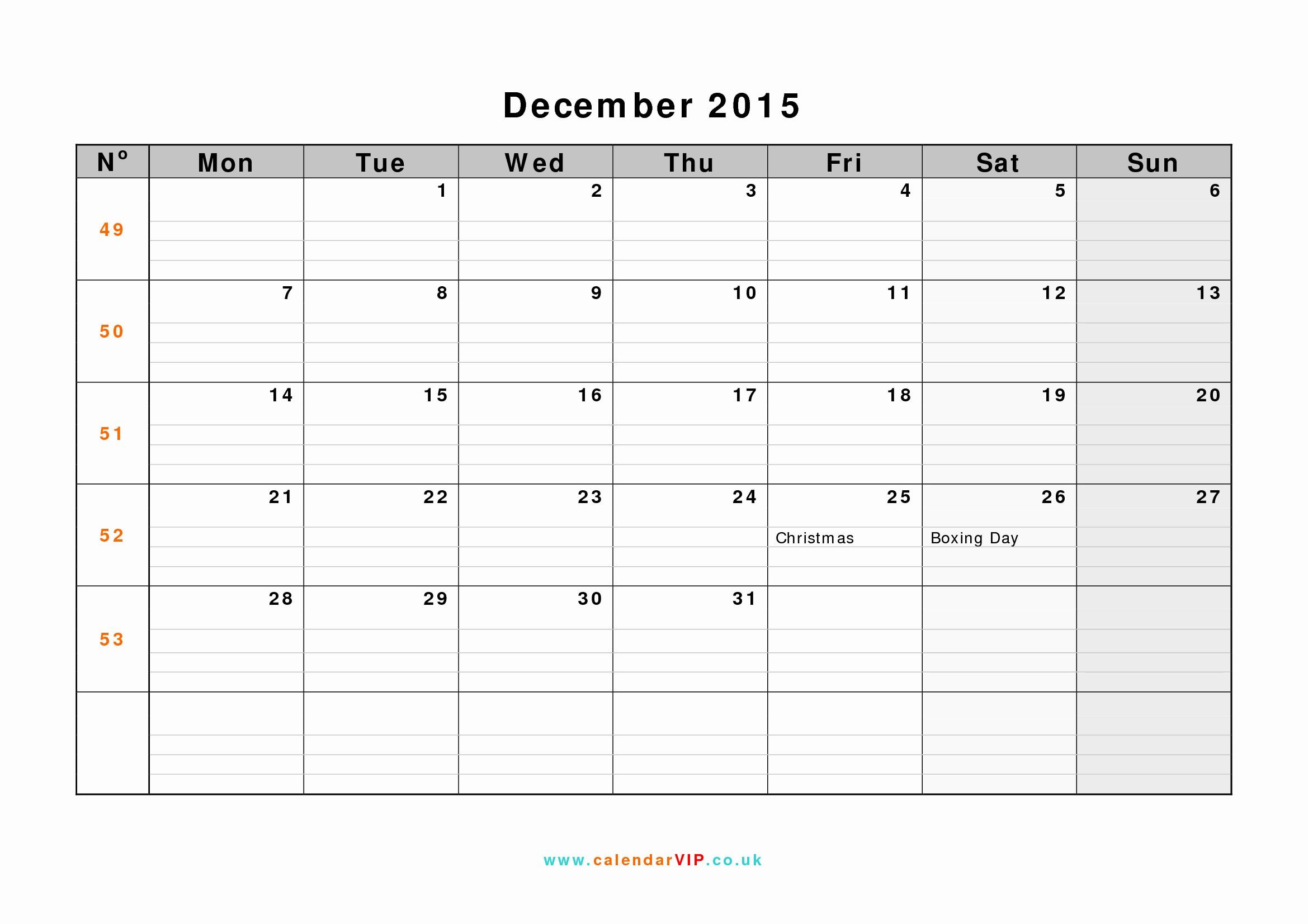 December 2015 Calendar Word Document Elegant December 2015 Calendar Free Monthly Calendar Templates