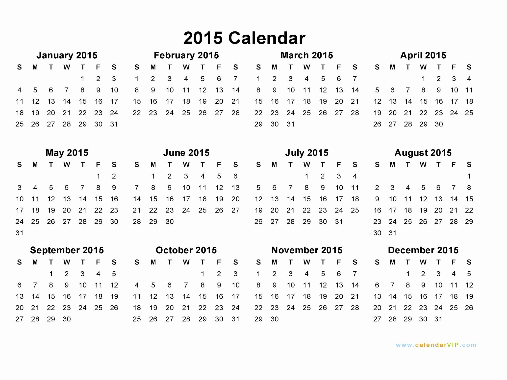 December 2015 Calendar Word Document Fresh 2015 Calendar Blank Printable Calendar Template In Pdf
