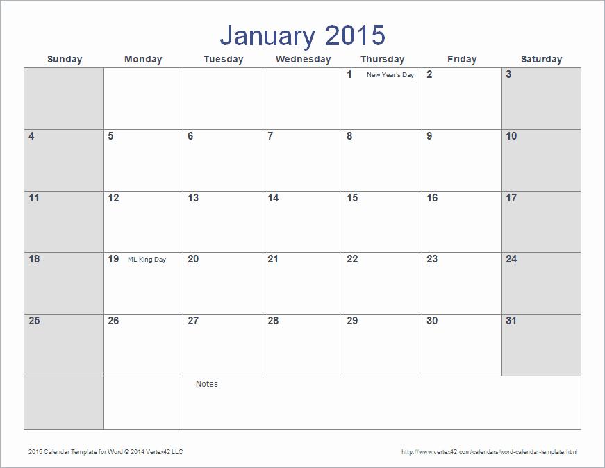 December 2015 Calendar Word Document Fresh 2015 Monthly Calendar Template Word