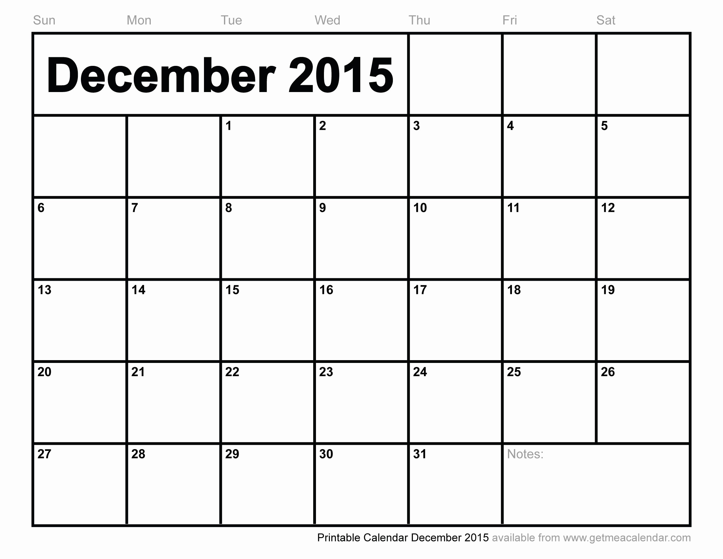 December 2015 Calendar Word Document Inspirational December 2015 Printable Calendar