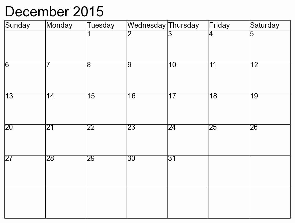 December 2015 Calendar Word Document Lovely Calendar Dec 2015 Jan 2015 Printable My Calendar