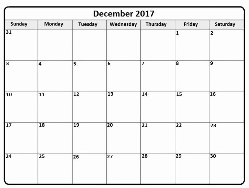 December 2017 Calendar Template Word Beautiful December 2017 Calendar Word Document Printable