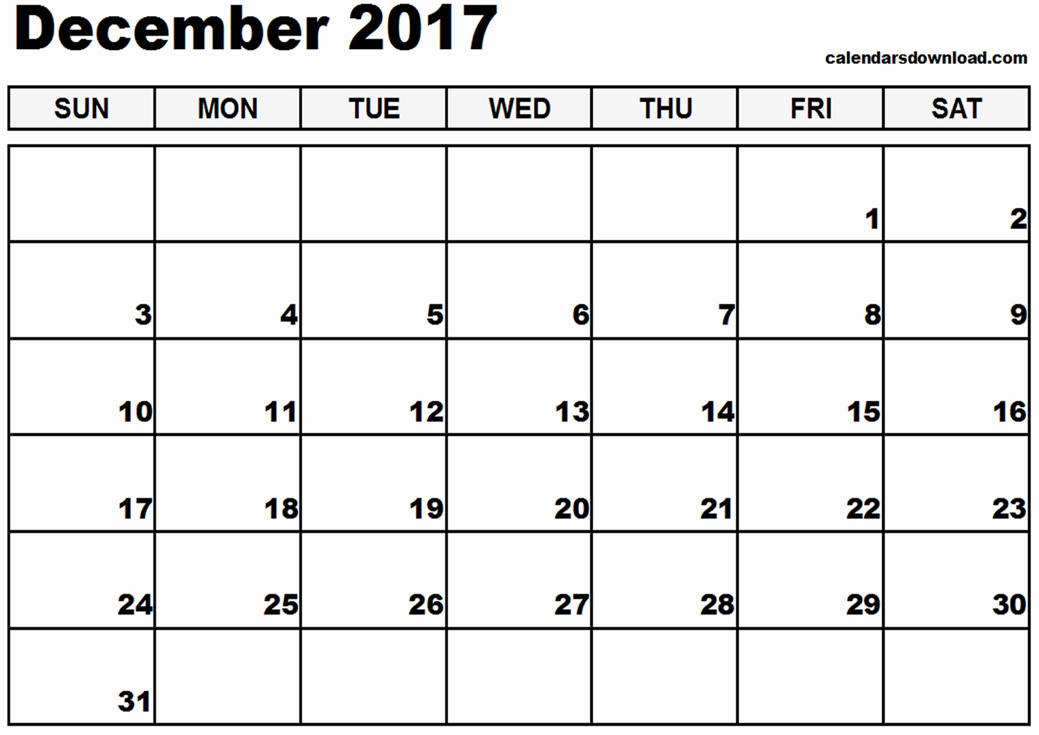 December 2017 Calendar Template Word Best Of December 2017 Calendar Template