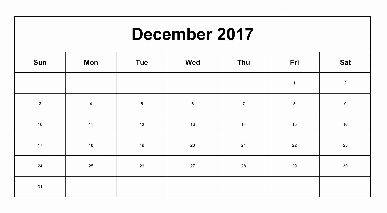 December 2017 Calendar Template Word Elegant December 2017 Printable Calendar Excel Word Pdf