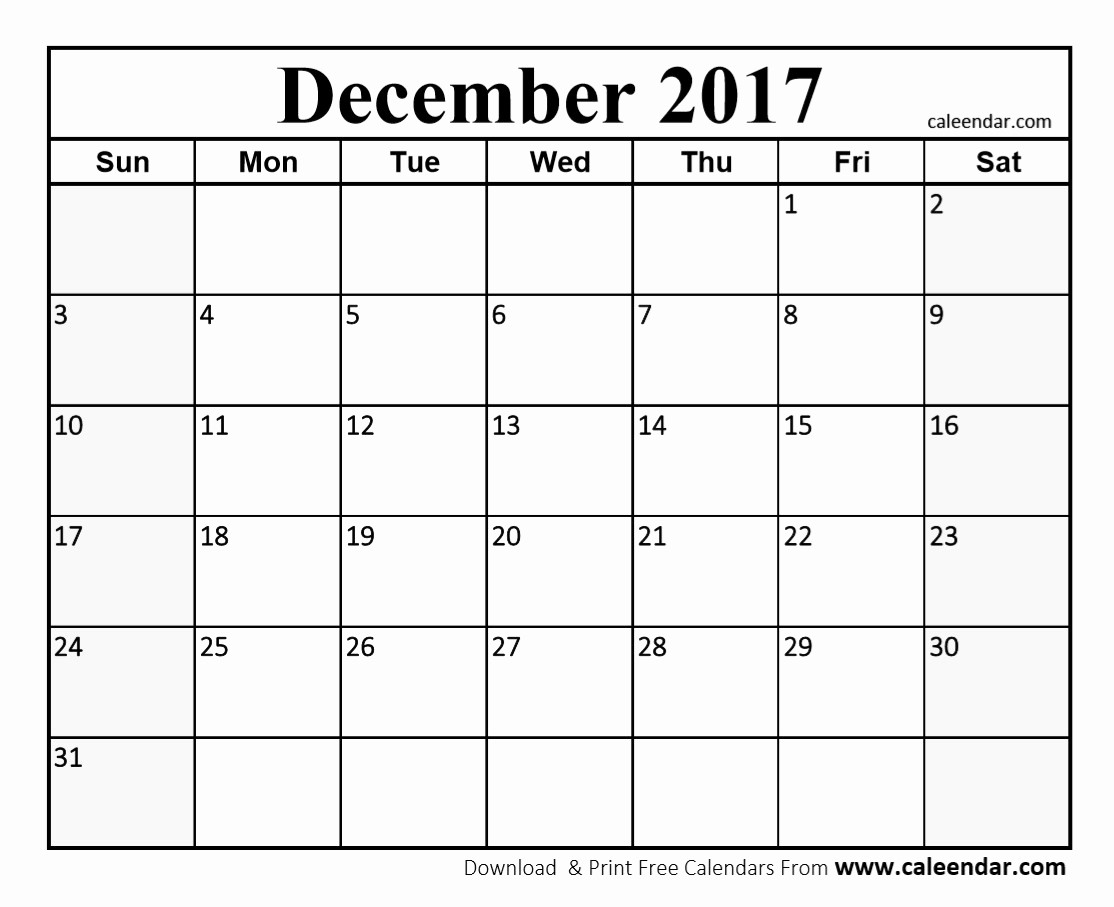 December 2017 Calendar Template Word Fresh December 2017 Calendar Pdf
