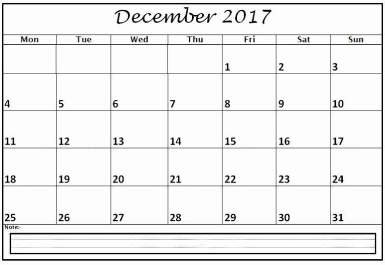 December 2017 Calendar Template Word Fresh December 2017 Calendar Word Document Printable