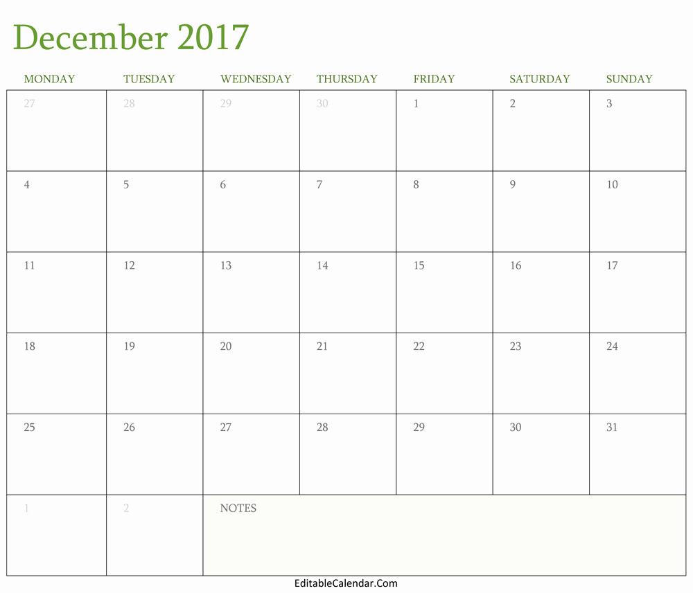 December 2017 Calendar Template Word Inspirational Blank December 2017 Calendar Template Word Pdf