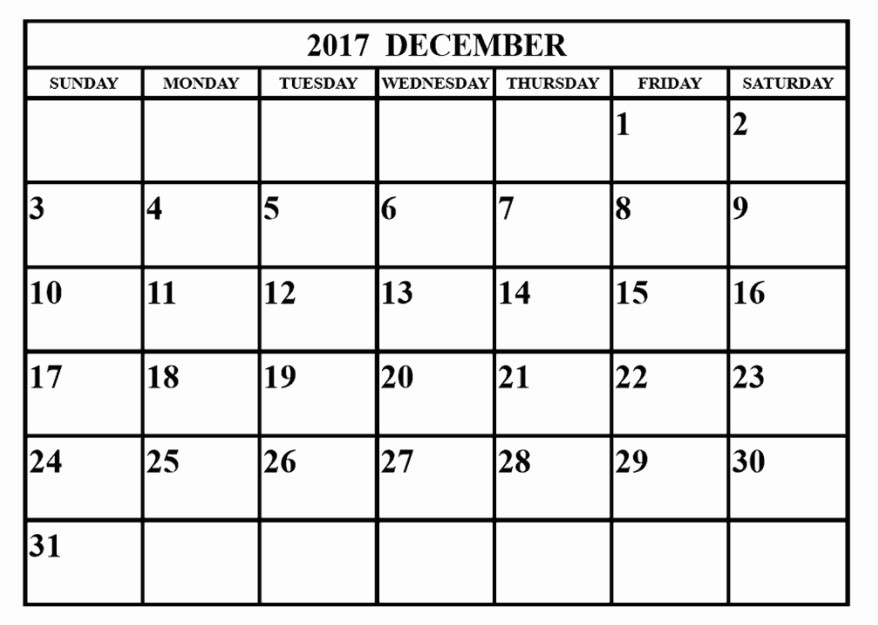 December 2017 Calendar Template Word Inspirational December 2017 Printable Calendar Excel Word Pdf