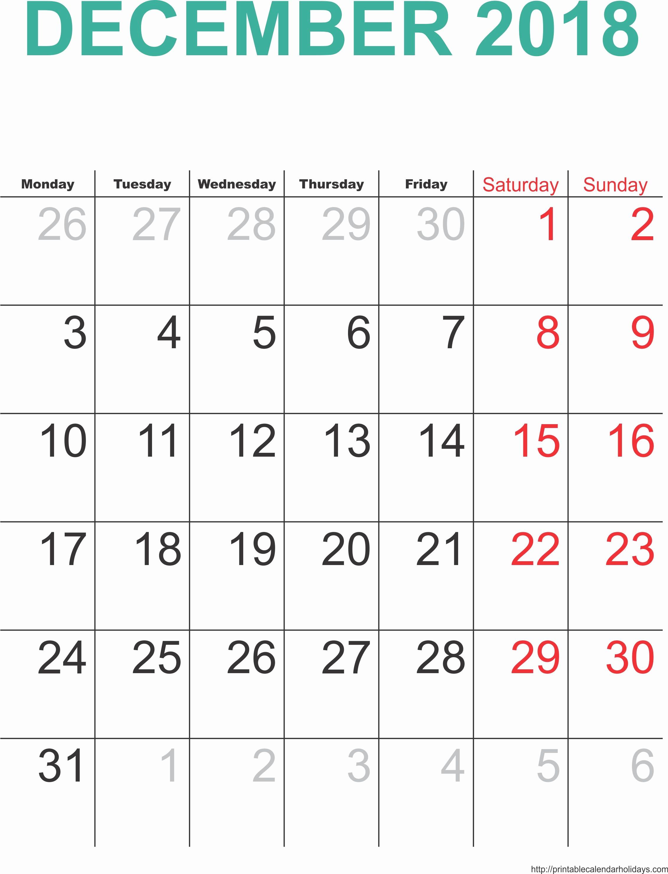 December 2017 Calendar Template Word Luxury December 2018 Calendar Template