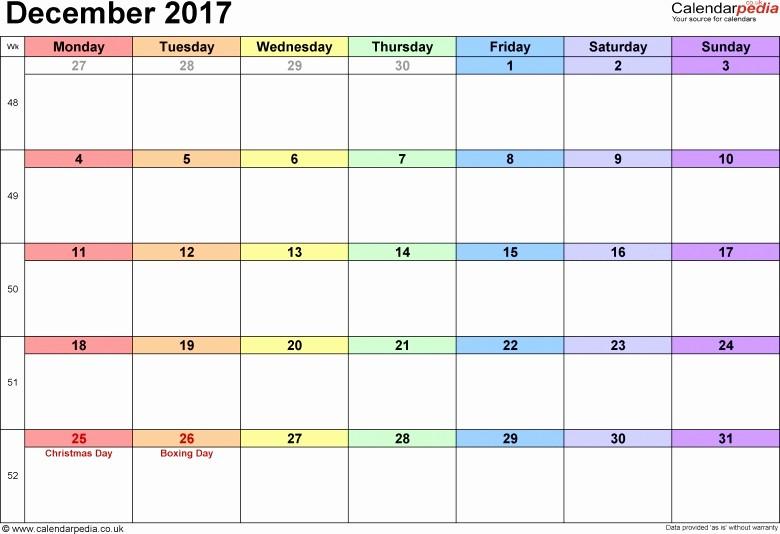 December 2017 Calendar Template Word Unique December 2017 Calendar Template Google Free Calendar