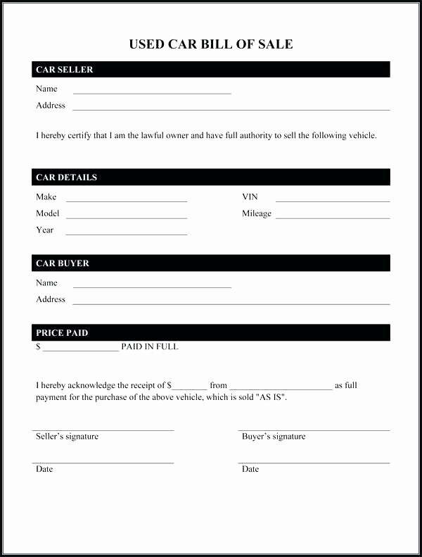 Deed Of Sale for Car Awesome Sale Motor Vehicle Template Deed Sale Motor