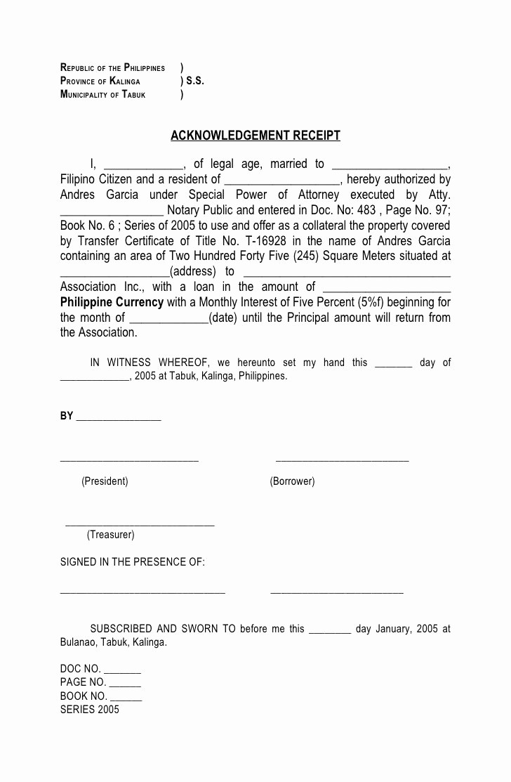 Deed Of Sale for Car Lovely Republic Of the Philippines Province Of Kalinga S S