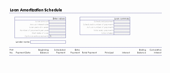 Deferred Payment Loan Calculator Excel Beautiful Download Loan Amortization Schedule Related Excel