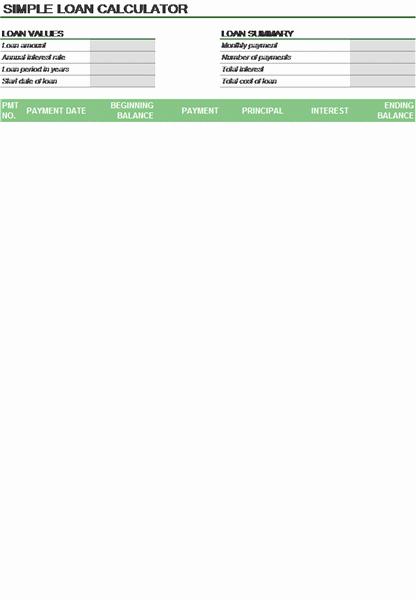 Deferred Payment Loan Calculator Excel Elegant Download Loan Calculator Amortization Schedule