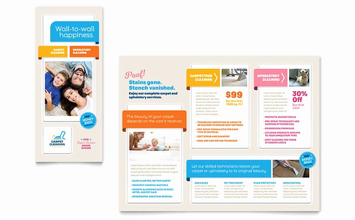 Design A Pamphlet In Word Beautiful Carpet Cleaning Brochure Template Design