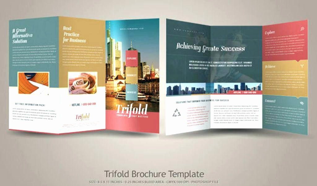 Design A Pamphlet In Word Best Of How to Set Up A Fold Brochure 4 3 Pamphlet Template 3 Fold