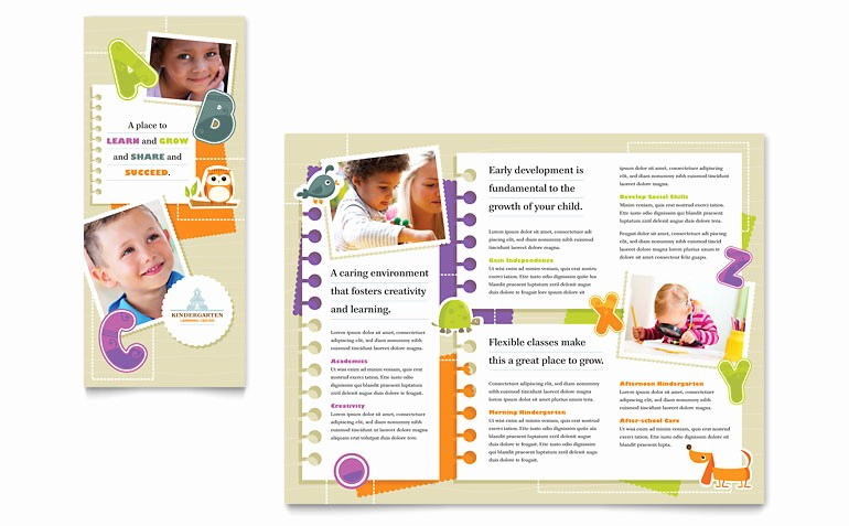 Design A Pamphlet In Word Best Of Kindergarten Tri Fold Brochure Template Word & Publisher